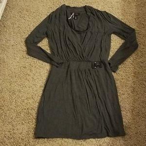 WHBM gray faux wrap dress sz 6 NWOT